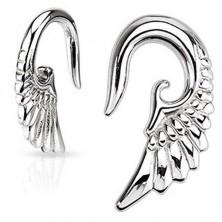 Taper do ucha - 316L, lesklé andělské křídlo