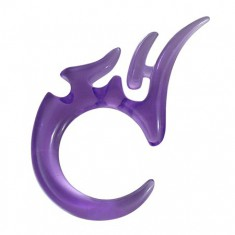 Tribal expandr do ucha z UV akrylu - fialový, 4mm