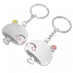 Přívěsky na klíče pro dvojici - zamilované houbičky AB31.04