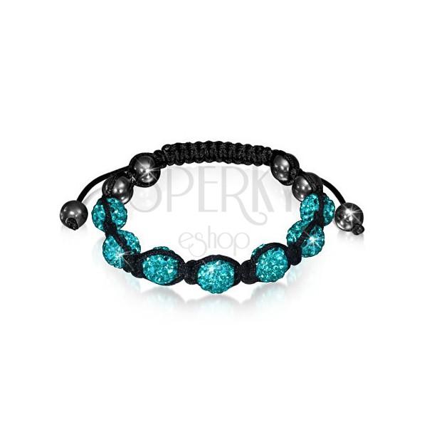 1d6f1c910 Shamballa vibrační náramek - světle modré třpytivé korálky   Šperky ...