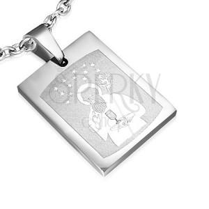 Přívěsek z oceli s obrázkem Svatého a magnety