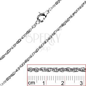 Řetízek z oceli - točená, hustě spojená oválná očka