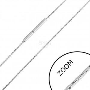 Ocelový řetízek z tenkých tyčinek, 0,8 mm