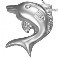 Přívěsek z chirurgické oceli velký delfín