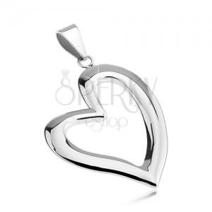 Přívěsek z chirurgické oceli - asymetrická linie srdce