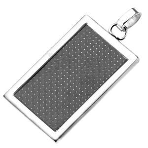 Oceľová tabuľka - karbónová obdĺžniková ozdoba