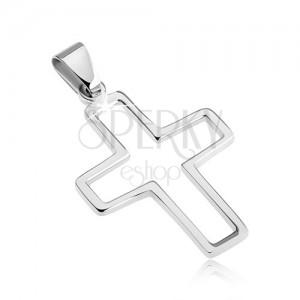 Přívěsek z nerezavějící oceli - obrysový křížek