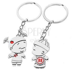 Klíčenky pro pár - chlapec a děvče, čínské ornamenty