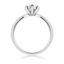 Zásnubní prsten ze stříbra 925 – zirkon ve tvaru slzy