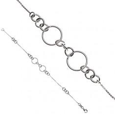 Stříbrný řetízek na ruku - spojené kroužky