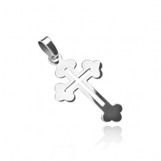 Přívěsek ze stříbra 925 - liliový kříž s výřezem Z4.20