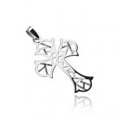Stříbrný přívěsek 925, kříž s geometrickými výřezy T4.13