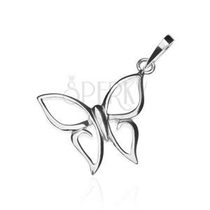 Přívěsek ze stříbra 925 - motýlek se špičatými křídly