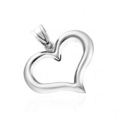 Stříbrný přívěsek 925 - nepravidelná silueta srdce V6.18