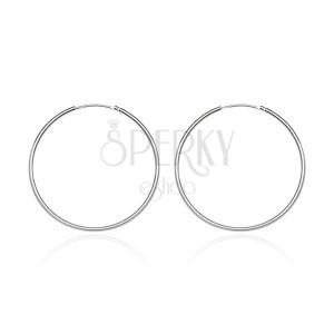 Kulaté náušnice ze stříbra 925 - lesklý a hladký povrch, 15 mm