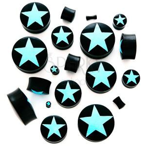 Sedlový plug - černý organický materiál, hvězda
