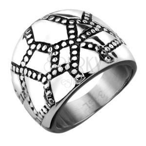Prsten z oceli -  nepravidelná mřížka