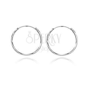 Náušnice ze stříbra 925 - kruhy s prohlubinkami, 20 mm