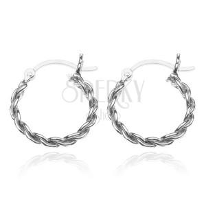 Stříbrné kruhy 925 - hrubý zatočený řetěz, 18 mm