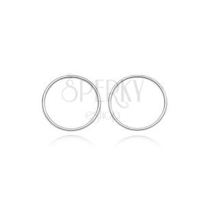 Stříbrné náušnice 925 - tenké hladké kruhy, 10 mm