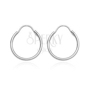 Kruhy ze stříbra 925 - hladký, lesklý povrch, 20 mm