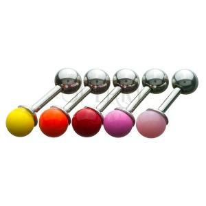Piercing do tragusu - barevná kulatá hlavička