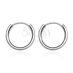 Náušnice ze stříbra 925 - lesklé jednoduché kruhy, 20 mm