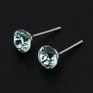 Náušnice ze stříbra 925 - bleděmodrý SWAROVSKI křišťál