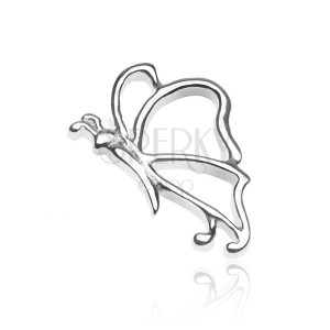 Přívěsek ze stříbra 925 - lesklý motýlek s tykadly