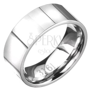 Jednoduchá ocelová obroučka ve stříbrné barvě