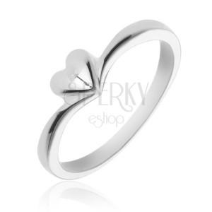 Jednoduchý stříbrný prsten 925 se srdíčkem