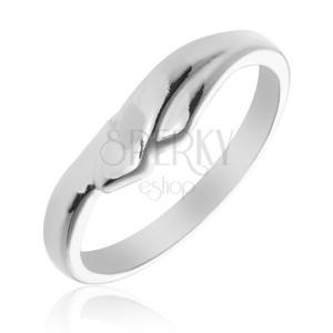 Prsten ze stříbra 925 s překrývajícími se rameny