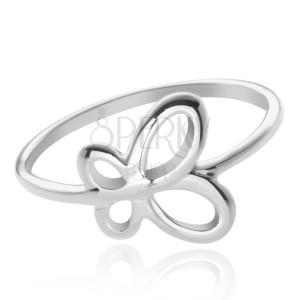 Stříbrný prsten 925 - křídla motýla