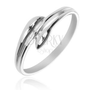 Stříbrný prsten 925 - rozvětvená ramena v podobě listů