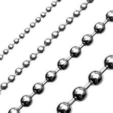 Řetízek z chirurgické oceli kuličky - stříbrný lesklý