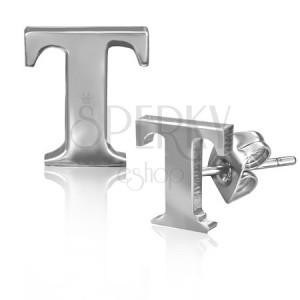 Puzetky z oceli - lesklý tvar písmenka T
